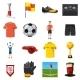 Soccer Icons Set Football, Cartoon Style