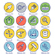 Construction Line Offset Icon Set