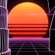 Retro Futuristic Synth Grid Cityscape - VideoHive Item for Sale