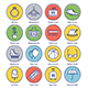 Shopping Line Offset Icon Set - GraphicRiver Item for Sale