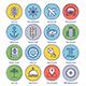 Travel Line Offset Icon Set - GraphicRiver Item for Sale