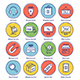 Delivery Line Offset Icon Set