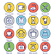Household Line Offset Icon Set - GraphicRiver Item for Sale