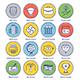 Stock Market Line Offset Icon Set - GraphicRiver Item for Sale