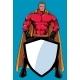 Superhero Holding Shield No Mask