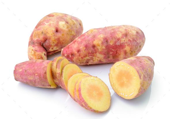 sweet potato isolated on the white background - Stock Photo - Images