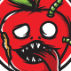 Red Apple Monster - T-Shirt Design - GraphicRiver Item for Sale
