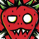 Red Strawberry Monster - T-Shirt Design