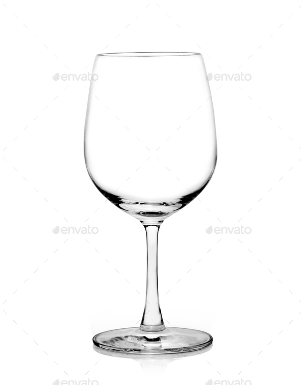 Empty wine glass. isolated on a white background - Stock Photo - Images