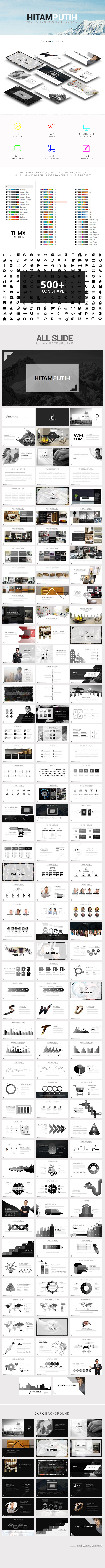Hitamputih Powerpoint Template - Business PowerPoint Templates