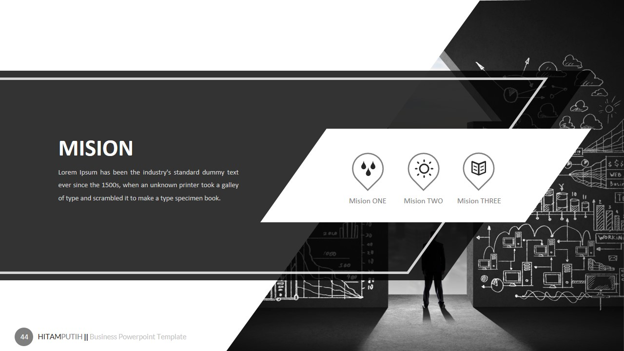 Hitamputih Powerpoint Template