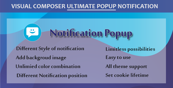 Visual Composer - Ultimate Popup Notification            Nulled