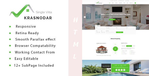Krasnodar | Real Estate Single Property HTML5 Template - Business Corporate