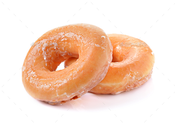 Donuts on a white background - Stock Photo - Images