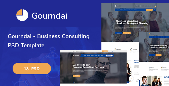 Gourndai - Business Consulting PSD Template - Corporate PSD Templates