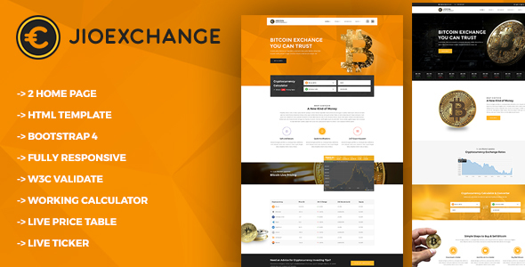 Jioexchange – Bitcoin & ICO Cryptocurrency HTML Template