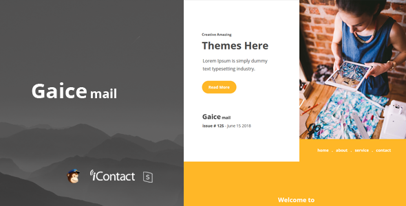 Gaice Mail - Responsive E-mail Template + Online Access - Email Templates Marketing