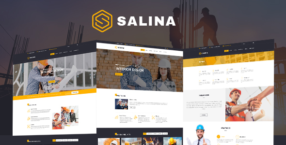 Salina – Construction Bootstrap 4 Template - Business Corporate