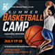 Basketball Camp Flyer Templates - GraphicRiver Item for Sale