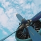 Old Propeller Biplane on Summer Day Against Blue Sky - VideoHive Item for Sale