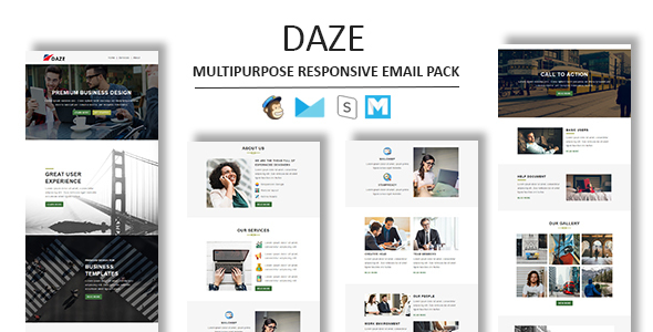 Daze - Multipurpose Responsive Email Template With Stamp Ready Builder Access - Newsletters Email Templates