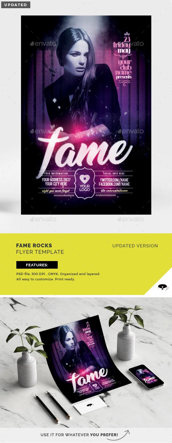Fame Rocks Flyer Template - Flyers Print Templates