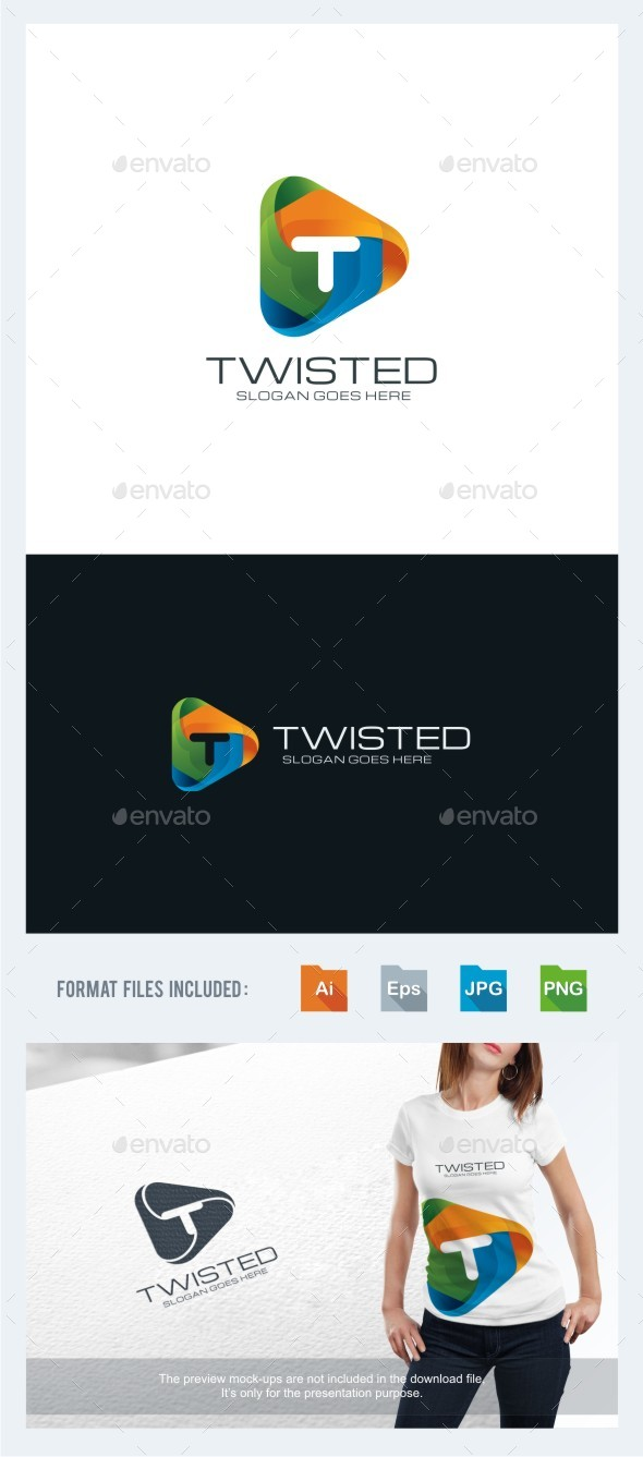 Twisted - Letter T Logo Template - Letters Logo Templates