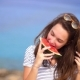 Summer Woman Eating Watermelon - VideoHive Item for Sale