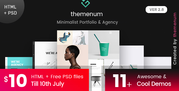 Portfolio HTML Template - themenum - Portfolio Creative
