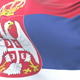 Flag of Serbia Waving