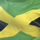 Flag of Jamaica Waving at Wind