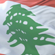 Flag of Lebanon Waving