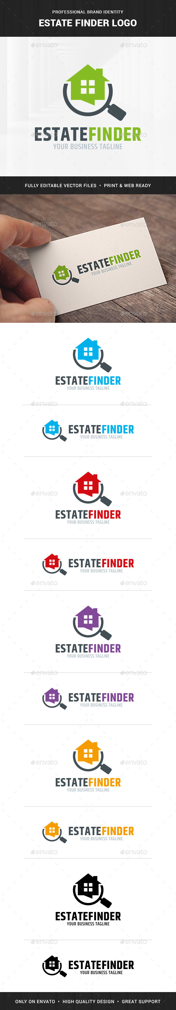 Estate Finder Logo Template - Buildings Logo Templates