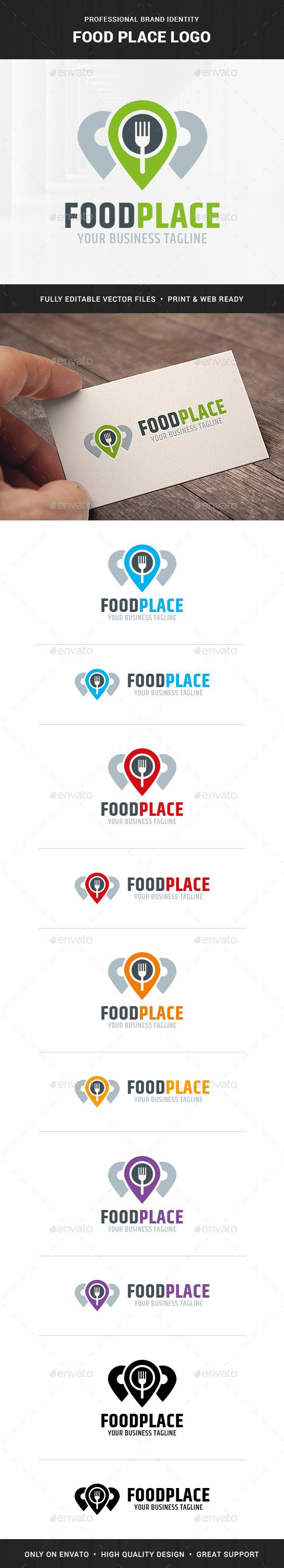 Food Place Logo Template - Food Logo Templates