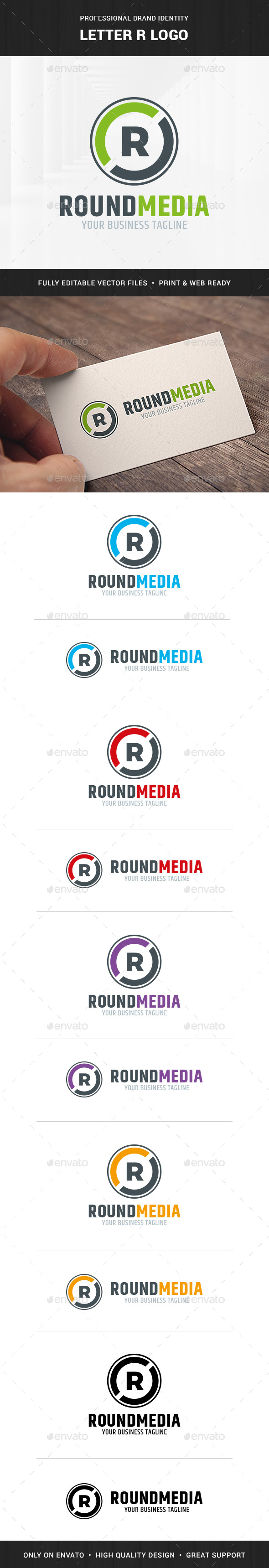 Letter R Logo Template - Letters Logo Templates