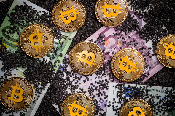 Worldwide virtual internet cryptocurrency - Stock Photo - Images