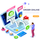 Statistics Online Services Concept - GraphicRiver Item for Sale