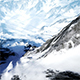 Beautiful Aerial Flight Over Snowy Mountain - VideoHive Item for Sale