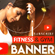 Bodybuilding & Gym YouTube Banner - GraphicRiver Item for Sale