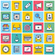 Startup Technology Illustration Icon Set