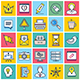 Social Network Illustration Icon Set