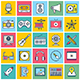 Multimedia Illustration Icon Set