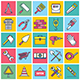 Construction Illustration Icon Set