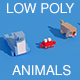 Low Poly Animals Seal Crab Rabbit