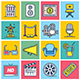 Movies Illustration Icon Set