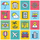 Travel Illustration Icon Set