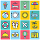 Tourism Illustration Icon Set