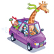Giraffe Driving a Car - GraphicRiver Item for Sale