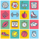 Sports Illustration Icon Set - GraphicRiver Item for Sale