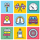 Driving Concept Illustration Icon Set - GraphicRiver Item for Sale